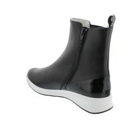 Högl Stiefelette, Babycalf-Softlack, schwarz,  Reißverschluss 103713-0100