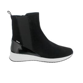 Högl Stiefelette, Dry-Casualvelour-Leder, schwarz,  GoreTex-Ausstattung, Reißverschluss 103715-0100