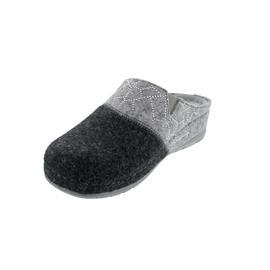Rohde Damen Pantolette, Softfilz, Lederfußbett,  anthrazit, Weite G, 6030-82
