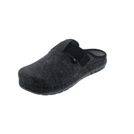 Rohde Herren-Pantolette, Softfilz / Velourleder, Lederfußbett, schwarz, Weite G 6741-90