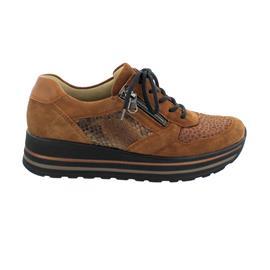 Waldläufer H-Lana Sneaker, Velour Giraffestr. Supreme, cognac, Weite H 758H02-400-260