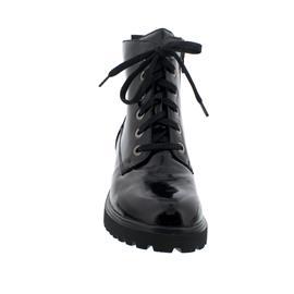 Waldläufer H-Luise Bootie, Taipei (Lackleder), schwarz, Schnür. und Reißverschl.,  Weite H 716801-143-001