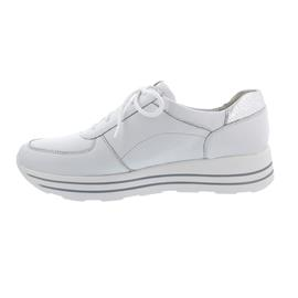 Waldläufer H-Lana Sneaker, Hirschleder (Glattleder), weiss/silber, Weite H 758009-200-150