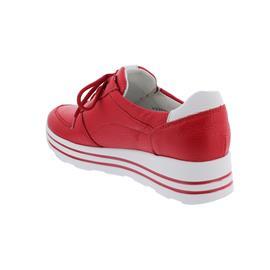 Waldläufer H-Lana, Sneaker, Hirschleder (Glattleder), rot/weiss, Weite H 758009-200-938