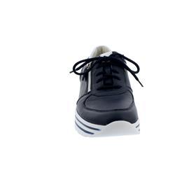 Waldläufer H-Lana Sneaker, Hirschleder (Glattleder), notte/weiss, Weite H 758009-200-194