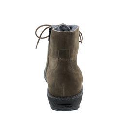 Waldläufer Hoja Bootie, Order (Veloursleder), kitt (braun), echt Lammfell, Weite H 533925-195-156