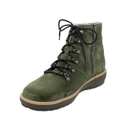 Waldläufer Hoja Bootie, Order (Veloursleder), bottle (grün), echt Lammfell, Weite H 533925-195-047