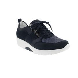 Waldläufer H-Sonja, Dynamic-Sohle, Sneaker, Velour komb., deepblue marine, Weite H 999H03-312-302