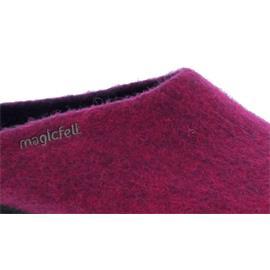 Magicfelt Damen-Wollfilz-Pantoffel, extradicke Filzsohle, Magenta AN 709