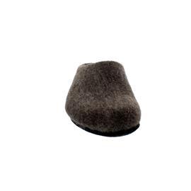 Magicfelt Wollfilz-Pantoffel, extradicke Filzsohle, Brown AN 709