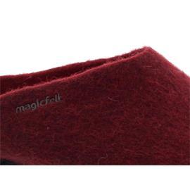 Magicfelt Damen-Wollfilz-Pantoffel, extradicke Filzsohle, Chianti AN 709