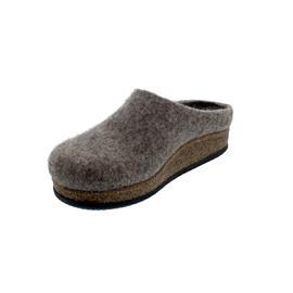 Stegmann Wollfilz-Pantoffel, Wolle vom Shetlandschaf, rutschfeste Gummi-Laufsohle, braun 8856