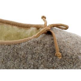 Stegmann Ballerina aus Walkstoff / Wolle, Gummisohle,  Warmfutter, Beige 1209