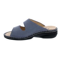 Finn Comfort Beverly-S Pantolette, Nubuk, lightblue, Swarovski-Crystals, Weichbettung 82574-007453