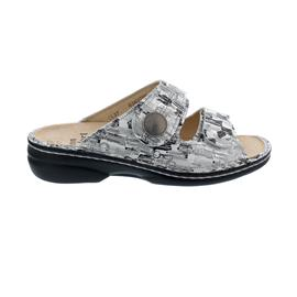 Finn Comfort Sansibar Pantolette, Tayfun (Leder), platero, 2550-703455