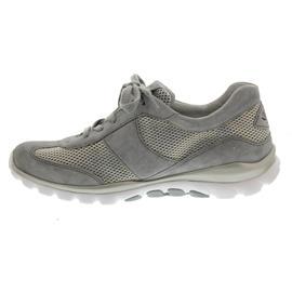 Gabor Rollingsoft, Sneaker, Mesh perl/Dreamvelour, silber / grau, Wechselfußbett 66.966.39