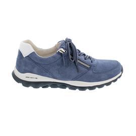 Rollingsoft Sneaker, Dreamvelour / Chevron , jeans / weiss, Schnür. und Reißver., 66.968.26