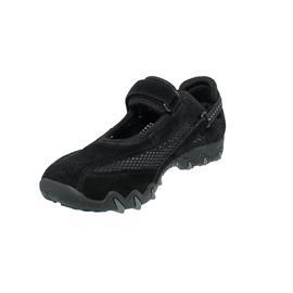Allrounder Niro Sneaker , Klettverschluss, C. Suede 84/  O. Mesh 84, Black/ Black N819