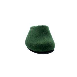 Magicfelt Damen-Wollfilz-Pantoffel, extradicke Filzsohle, Dark Green AN 709