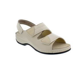 Berkemann Sofie, Sandale, beige, Leder/ Stretch, Wechselfußbett, Weite E-H 1020-725