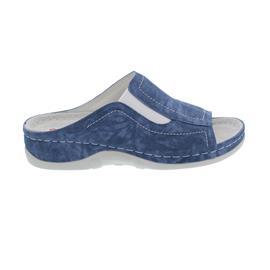 Berkemann Isabella Pantolette, washed jeans, Leder, Weite G 1105-309