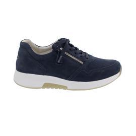 Rollingsoft Sneaker, Nubuk, blue, Schnürung und Reißverschluss, Wechselfußbett 66.945.46