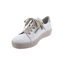 Gabor Sneaker, Best Fitting, Cervo/ Metal, weiss/puder, Schnür. u. Reißver., Wechselfußb. 63.334.22