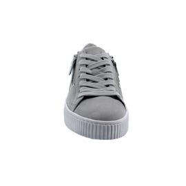 Gabor Sneaker, Samtchev/ RaffiaMet., grau/silber, Best Fitting, Wechselfußbett 63.360.19