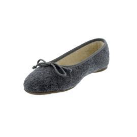 Stegmann Ballerina aus Walkstoff / Wolle, Gummisohle, Warmfutter, graumele 77216-1201