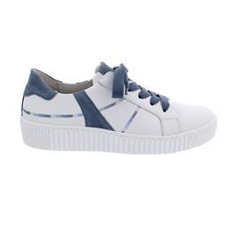 Gabor Sneaker, Best Fitting, Cervo/Samtchevr, weiss/ nautic (ice), 63.336.26