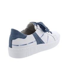 Gabor Sneaker, Best Fitting, Cervo/Samtchevr, weiss/ nautic,Schnür. u. Reißver., Wechselfußb. 63.334.91