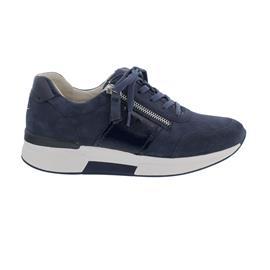 Rollingsoft Sneaker, Samtchevreau / Lack, river / marine Schnür. u. Reißv., Wechselfußb. 66.928.36