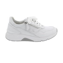 Rollingsoft Sneaker low, Chevron Leder, weiss, Wechselfußb. 66.898.50