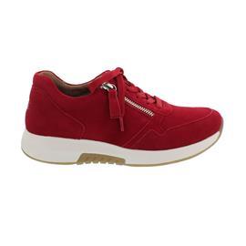 Rollingsoft Sneaker, Samtchevreau, rubin, Schnürung und Reißverschluss, Wechselfußbett 66.945.38