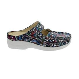 Wolky Roll-Slipper Clog, Mosaic suede, Black summer 0622742-070