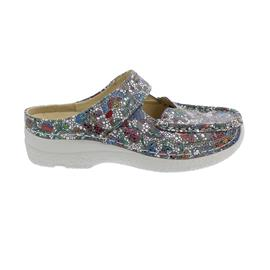 Wolky Roll-Slipper Clog, Mosaic suede, Taupe summer 0622742-157