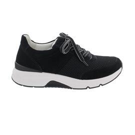 Rollingsoft Sneaker low, Mesh/ Dreamvelour/ Lack, schwarz, Wechselfußb. 66.897.37