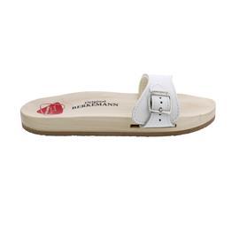 Berkemann Original Sandale (Pantolette), Kalbsleder, weiß, Unisex, Weite E-H 0100-100