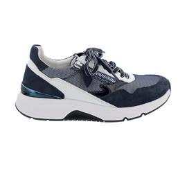 Rollingsoft Sneaker low, MeshLis/Nub/Lack/Ch, Blue/Weiss, Wechselfußb. 66.898.36