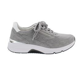 Rollingsoft Sneaker low, Dreamvelour/Chevron, grau/weiss, Wechselfußb. 66.898.40