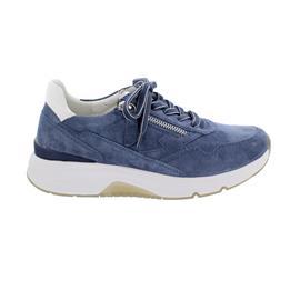Rollingsoft Sneaker low, Dreamvelour/Chevron, jeans/weiss, Wechselfußb. 66.898.26