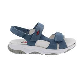 Rollingsoft Sandale, Nubuk, jeans, Wechselfußbett 66.826.26