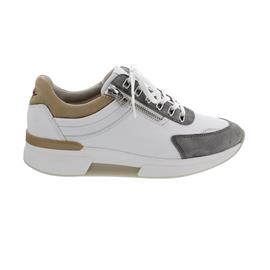 Rollingsoft Sneaker, Chevron/ Nubuk, weiss grau caramel, Schnür. u. Reißv., Wechselfußb. 66.926.51
