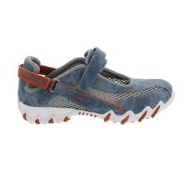 Allrounder Niro, Sneaker, Klettverschluss, Heritage 95/ Open Mesh 12, Jeans/ Cool Grey