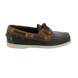Sebago Docksides, Leather / Oiled Leather / Suede, Blue Navy / Brown Tan / Green Musk Men 781121W-A58