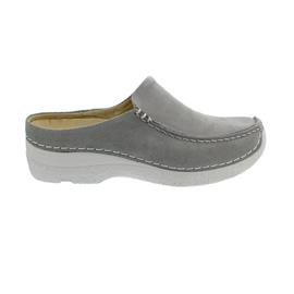 Wolky Seamy-Slide Clog, Caviar nubuck, Light-Grey, 0625015-206