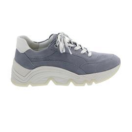 Gabor Sneaker, Samtchevreau/Las Vegas, aquamarin/weiss, Best Fitting, Wechselfußbett 63.461.18