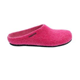 Magicfelt Damen-Wollfilz-Pantoffel, Pink, extradicke Filzsohle, AN 709-4810