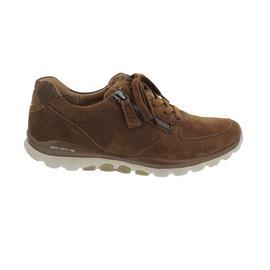 Rollingsoft Sneaker, Samtchevreau/Snake, new whisky,  Schnürung und Reißv., Wechselfußbett 76.968.35