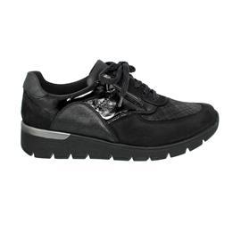 Waldläufer K-Ramona Sneaker, Denver Checkstr. Bronx.T., schwarz,  OrthoTritt, Weite K 626K02-407-001